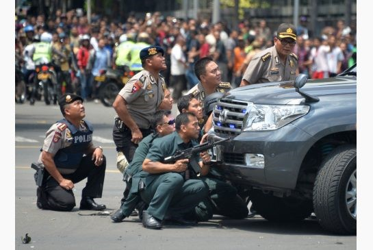 big crowds jakarta attack
