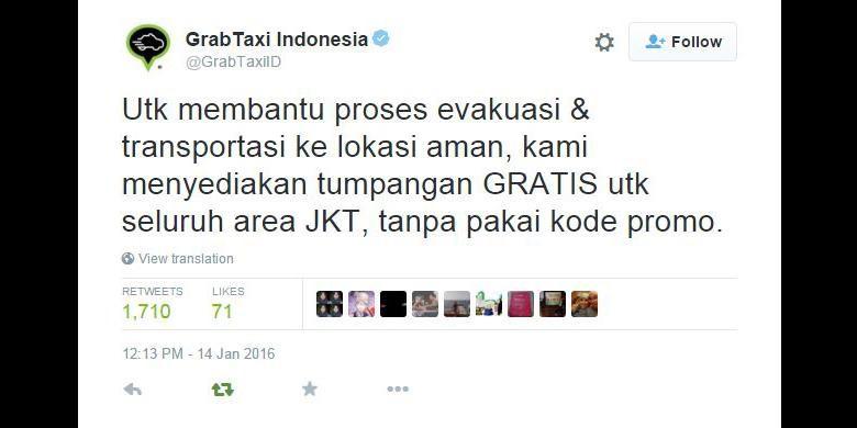 free ride grab taxi jakarta attacks
