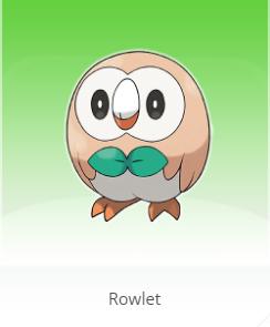rowlet pokemon sun moon starter