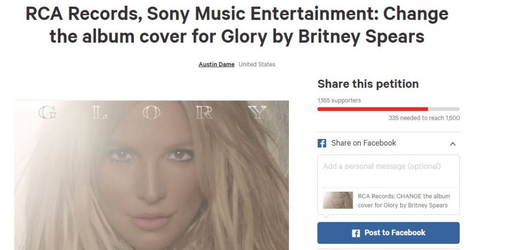 glory cover change petition